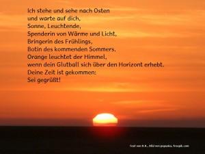 Ostara- Gebet beim Sonnenaufgang
