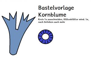 Bastelvorlage Kornblume