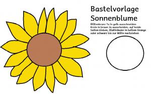 Bastelvorlage Sonnenblume