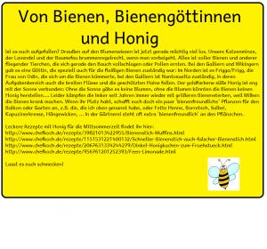 Mittsommer-Kalender - Von Bienen, Bienengöttinnen und Honig