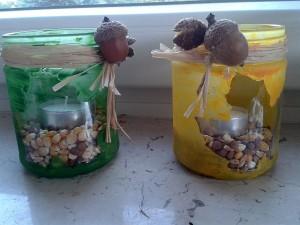 Mabonkalender - Kerzengläser